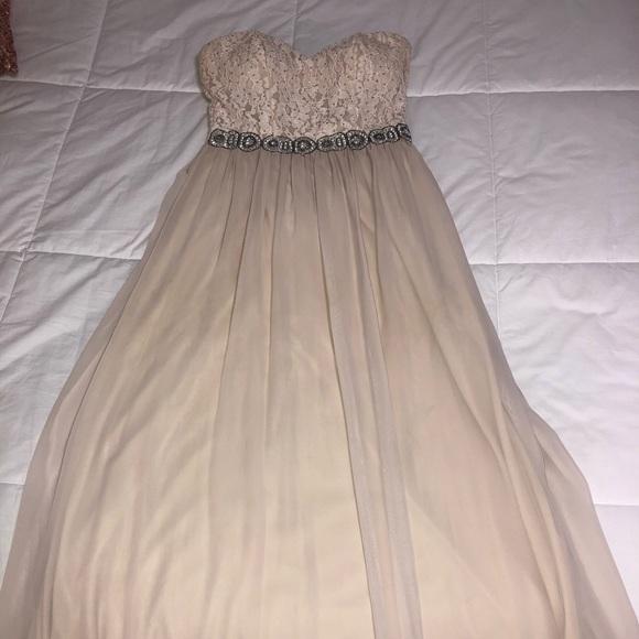 Speechless Dresses & Skirts - Long Cream Colored Dress